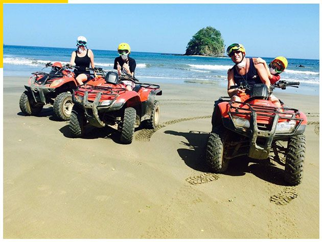 White-Sand-South-Beach-ATV-Tour,-Conchal,-Costa-Rica-1