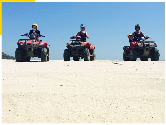 White-Sand-South-Beach-ATV-Tour,-Conchal,-Costa-Rica-2