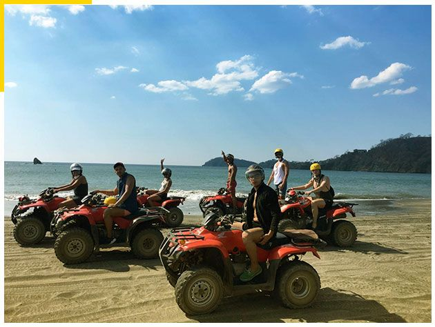 White-Sand-South-Beach-ATV-Tour,-Conchal,-Costa-Rica-3